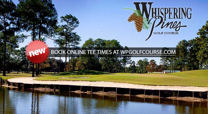 Whispering pines water feature sign up today text