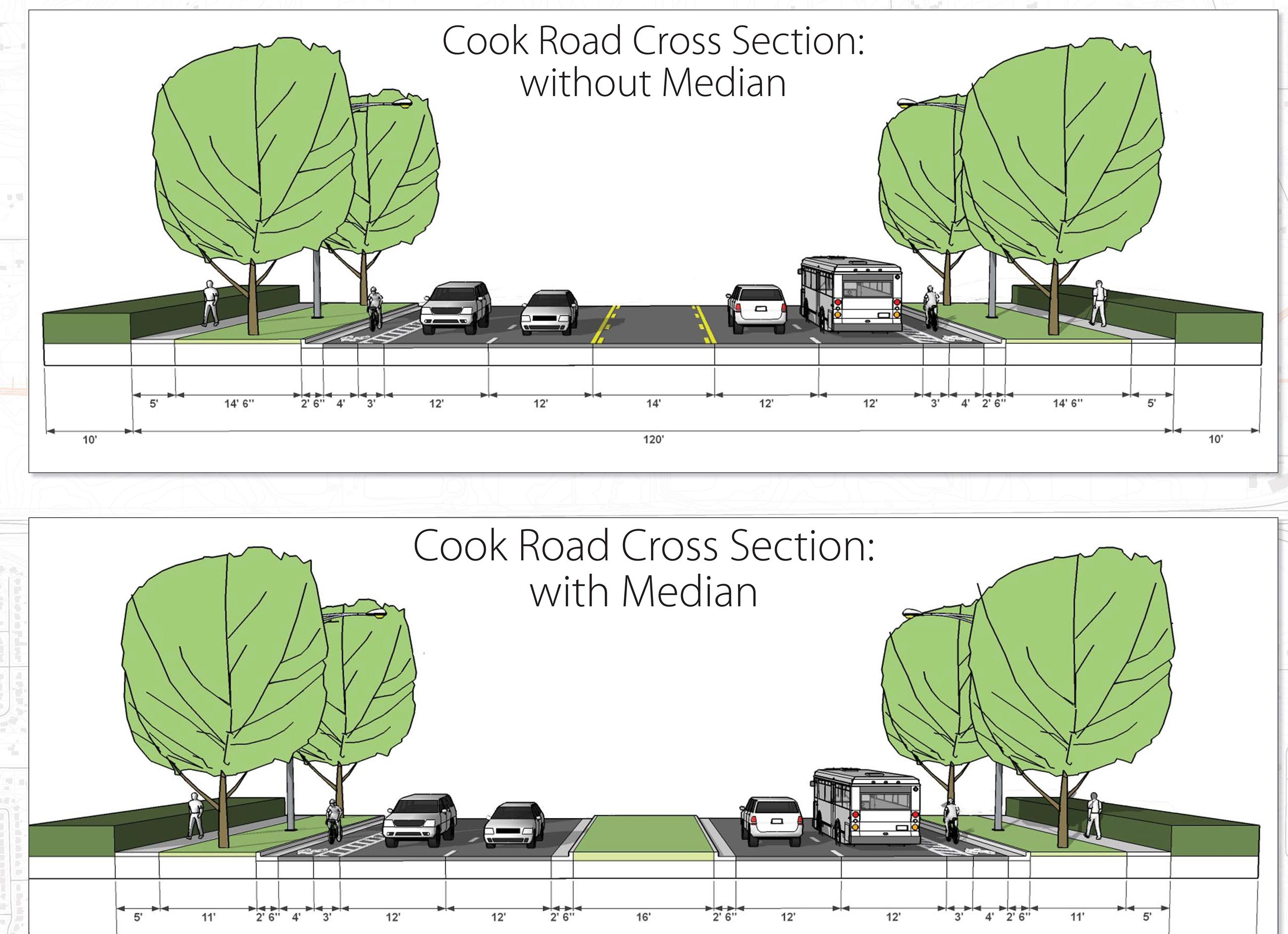 I-10/Cook Road Cross Section drawing
